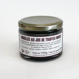 Morel mushrooms with truffle juice (Tuber Melanosporum)