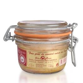 Foie gras de canard entier nature (verre)