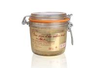 Foie gras d'oie entier truffé à 3%  de truffes noires (verre)
