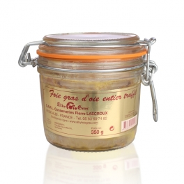 Full natural goose's foie gras with 3% black truffles