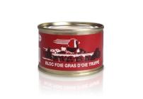 Bloc de foie gras d'oie truffé à 3%  de truffes noires