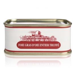 Foie gras d'oie entier truffé à 3%  de truffes noires (boite)