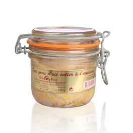 Full natural goose's foie gras in a jar