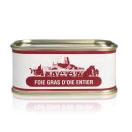 Foie gras d'oie entier nature (boite)