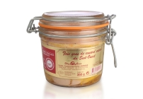 Full natural duck's foie gras in a jar
