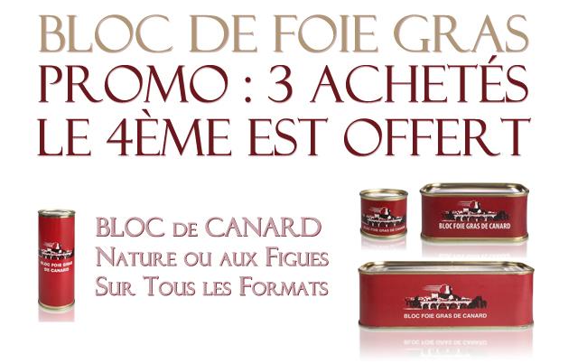 Promotion du moment sur les blocs de foie gras de canard