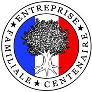 logo entreprise familiale et centenaire