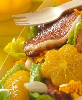 Salade fraîche d'orange et de magret