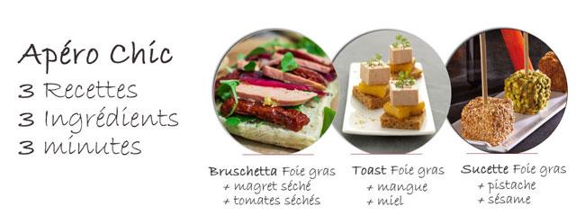 3 recettes pour un apéro chic au foie gras