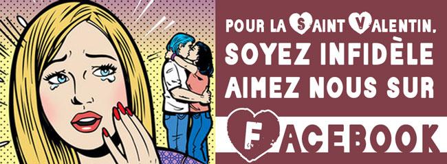 Saint Valentin, Amiez nous sur Facebook.