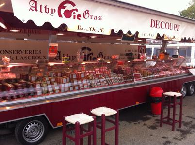 Alby foie gras sur les marchés Tarnais